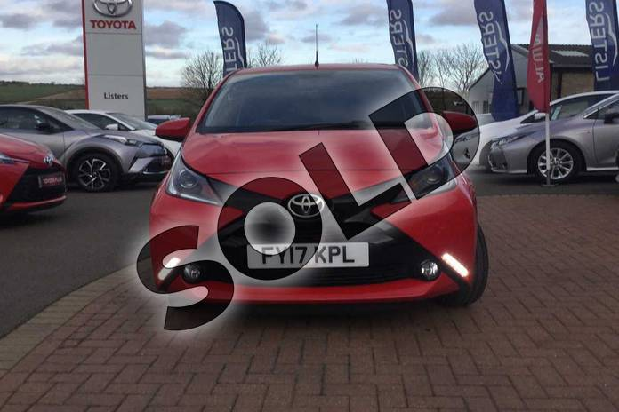 Image fifteen of this 2017 Toyota AYGO Hatchback Special Editions 1.0 VVT-i X-Clusiv 3 5dr in Red Pop at Listers Toyota Grantham