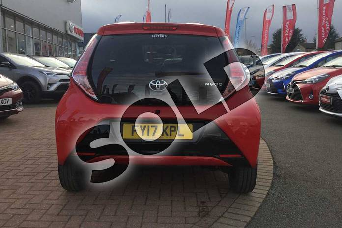 Image nineteen of this 2017 Toyota AYGO Hatchback Special Editions 1.0 VVT-i X-Clusiv 3 5dr in Red Pop at Listers Toyota Grantham