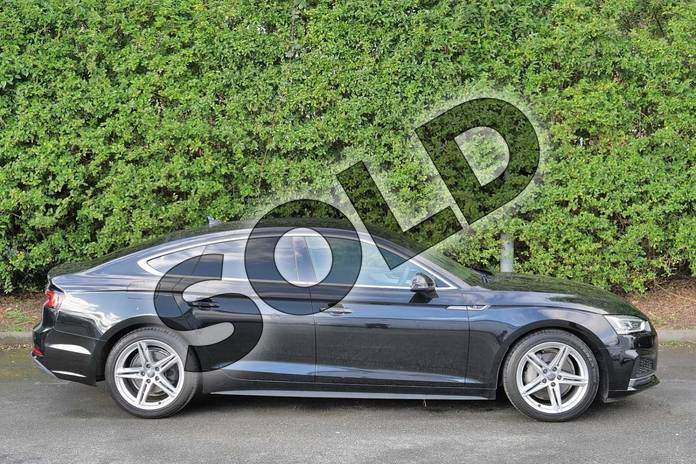 Image four of this 2017 Audi A5 Diesel Sportback 2.0 TDI Quattro S Line 5dr S Tronic in Myth Black Metallic at Worcester Audi