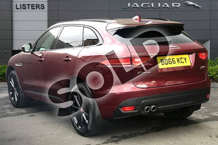 Image two of this 2017 Jaguar F-PACE Diesel Estate 2.0d R-Sport 5dr Auto AWD in Montalcino Red at Listers Jaguar Droitwich