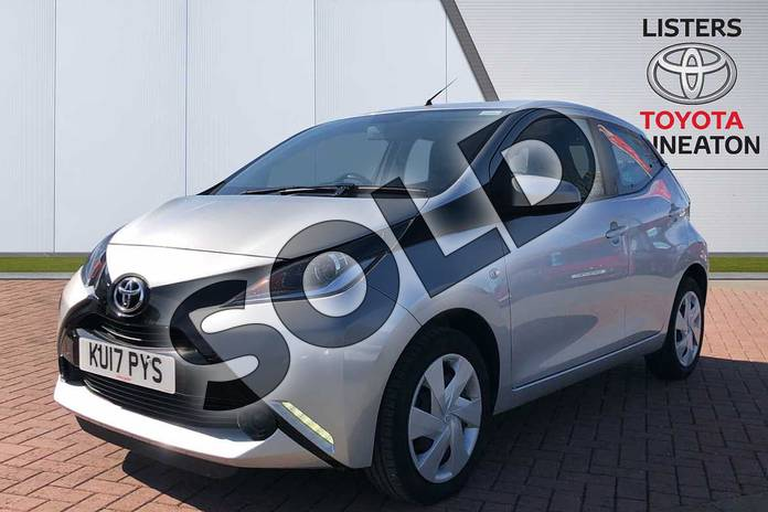Image three of this 2017 Toyota AYGO Hatchback 1.0 VVT-i X-Play 5dr in Silver at Listers Toyota Nuneaton