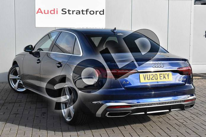 Image three of this 2020 Audi A4 Diesel Saloon 35 TDI S Line 4dr S Tronic in Navarra Blue Metallic at Stratford Audi