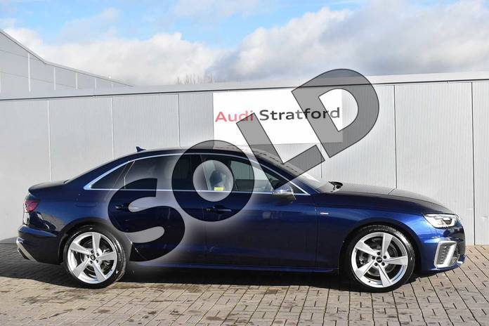 Image four of this 2020 Audi A4 Diesel Saloon 35 TDI S Line 4dr S Tronic in Navarra Blue Metallic at Stratford Audi