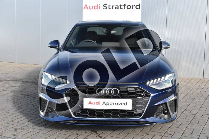 Image seven of this 2020 Audi A4 Diesel Saloon 35 TDI S Line 4dr S Tronic in Navarra Blue Metallic at Stratford Audi