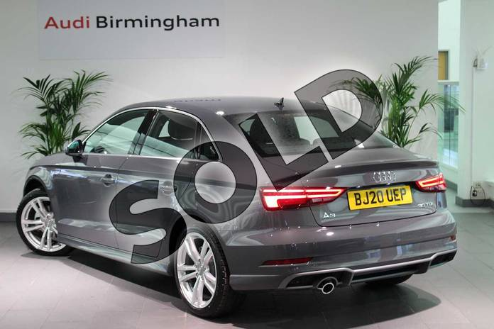 Image three of this 2020 Audi A3 Diesel Saloon 30 TDI 116 S Line 4dr in Nano Grey Metallic at Birmingham Audi