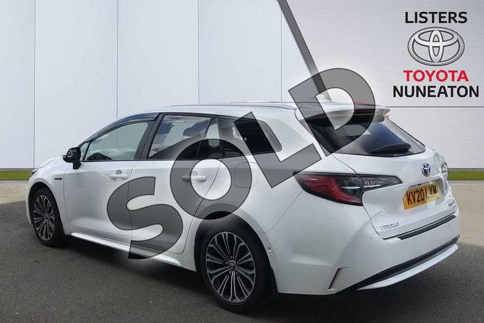 Image four of this 2020 Toyota Corolla Touring Sport 1.8 VVT-i Hybrid Design 5dr CVT in White at Listers Toyota Nuneaton