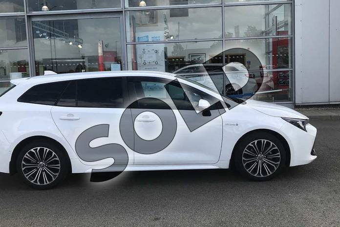 Image sixteen of this 2020 Toyota Corolla Touring Sport 1.8 VVT-i Hybrid Design 5dr CVT in White at Listers Toyota Nuneaton