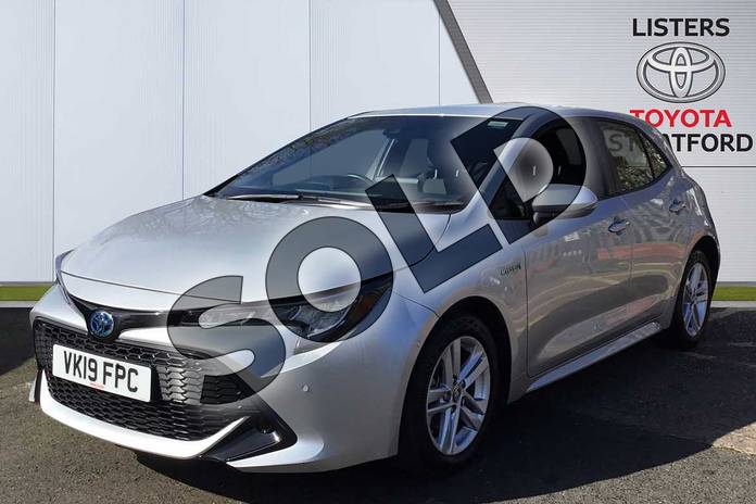 Image three of this 2019 Toyota Corolla Hatchback 1.8 VVT-i Hybrid Icon Tech 5dr CVT in Silver at Listers Toyota Stratford-upon-Avon