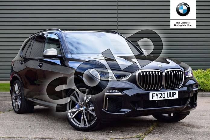 Picture of BMW X5 M50d in Black Sapphire metallic paint