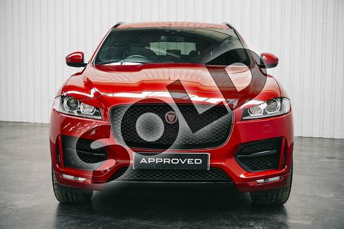 Image six of this 2017 Jaguar F-PACE Diesel Estate 2.0d R-Sport 5dr Auto AWD in Firenze Red at Listers Jaguar Solihull