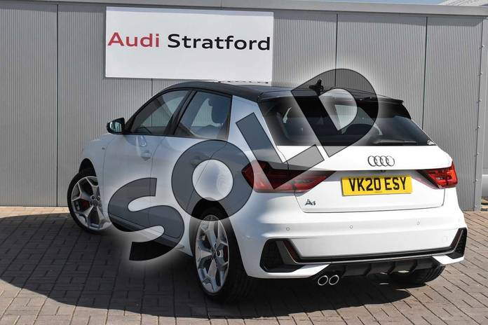 Image three of this 2020 Audi A1 Sportback 40 TFSI S Line Competition 5dr S Tronic in Glacier White Metallic at Stratford Audi