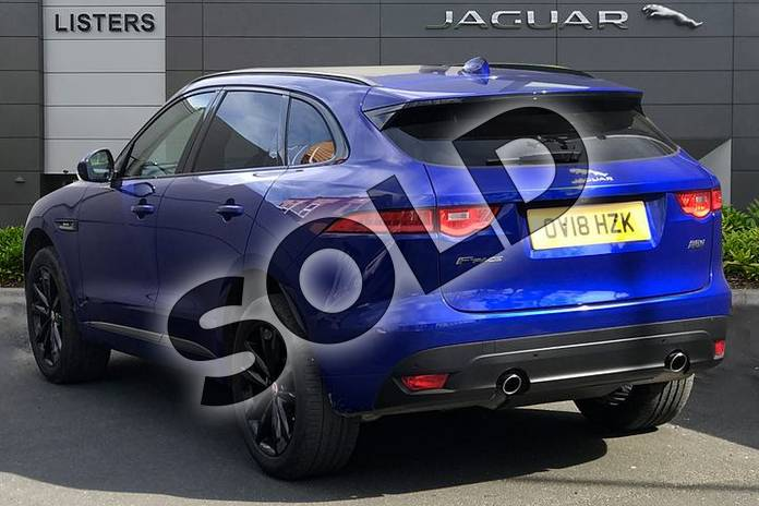 Image two of this 2018 Jaguar F-PACE Diesel Estate 2.0d (240) R-Sport 5dr Auto AWD in Caesium Blue at Listers Jaguar Droitwich