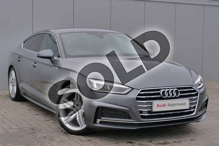 Picture of Audi A5 35 TDI S Line 5dr S Tronic in Monsoon Grey Metallic