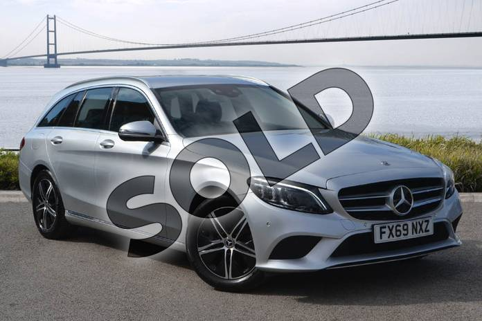 Picture of Mercedes-Benz C Class C 200 Estate in iridium silver metallic