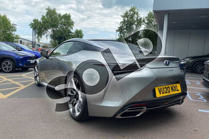 Image three of this 2020 Lexus LC Coupe 500h 3.5 Sport+ 2dr Auto in Silver at Lexus Cheltenham