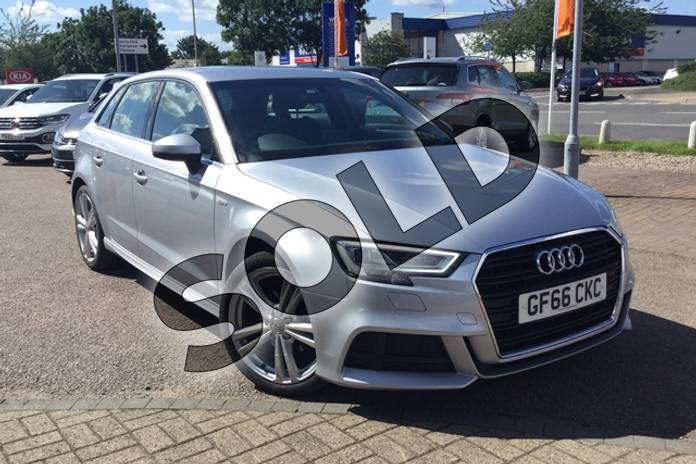 Picture of Audi A3 1.6 TDI S Line 5dr S Tronic in Metallic - Floret silver
