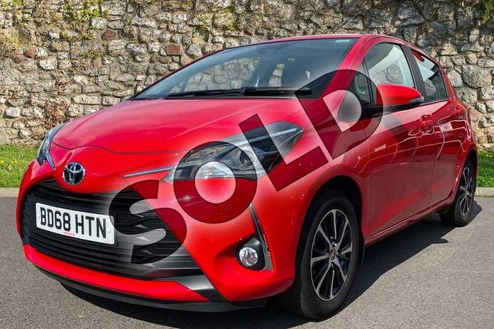 Image three of this 2018 Toyota Yaris Hatchback 1.5 VVT-i Icon Tech 5dr in Red at Listers Toyota Coventry