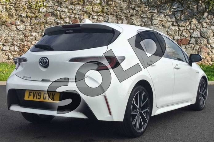 Image two of this 2019 Toyota Corolla Hatchback 1.8 VVT-i Hybrid Excel 5dr CVT in Pure White at Listers Toyota Grantham