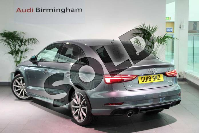 Image three of this 2018 Audi A3 Saloon Special Editions 1.0 TFSI Black Edition 4dr in Monsoon Grey Metallic at Birmingham Audi