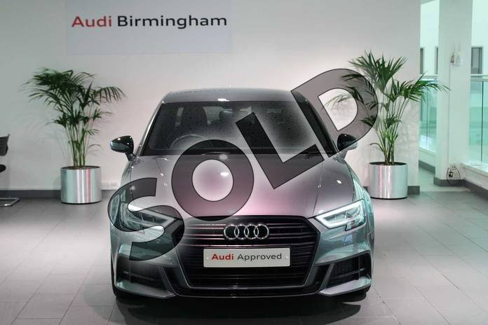 Image seven of this 2018 Audi A3 Saloon Special Editions 1.0 TFSI Black Edition 4dr in Monsoon Grey Metallic at Birmingham Audi
