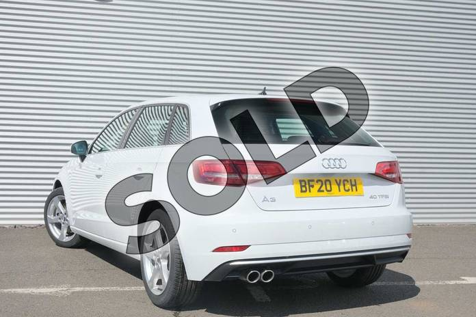 Image three of this 2020 Audi A3 Sportback 40 TFSI Sport 5dr S Tronic in Glacier White Metallic at Coventry Audi