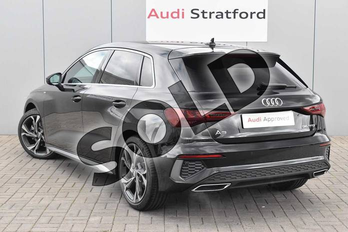 Image three of this 2020 Audi A3 Sportback 35 TFSI S line 5dr in Myth Black Metallic at Stratford Audi
