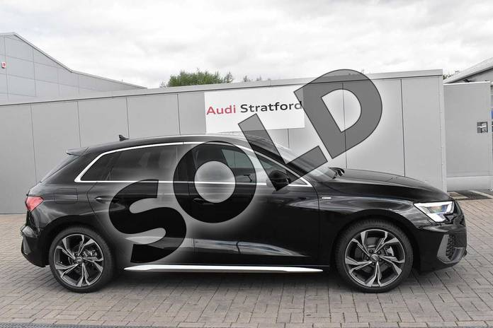 Image four of this 2020 Audi A3 Sportback 35 TFSI S line 5dr in Myth Black Metallic at Stratford Audi