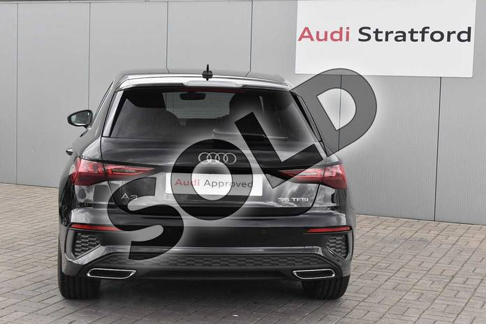 Image nine of this 2020 Audi A3 Sportback 35 TFSI S line 5dr in Myth Black Metallic at Stratford Audi