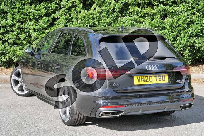 Image three of this 2020 Audi A4 Diesel Avant 40 TDI Quattro Black Edition 5dr S Tronic in Myth Black Metallic at Worcester Audi