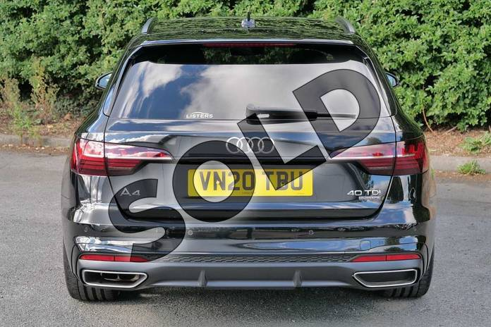 Image nine of this 2020 Audi A4 Diesel Avant 40 TDI Quattro Black Edition 5dr S Tronic in Myth Black Metallic at Worcester Audi