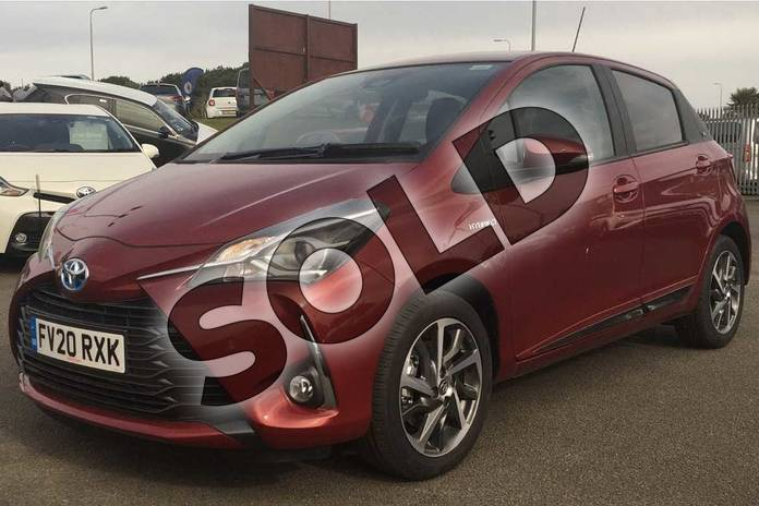 Image three of this 2020 Toyota Yaris Hatchback 1.5 Hybrid Y20 5dr CVT (Bi-tone) in Tokyo Red at Listers Toyota Lincoln