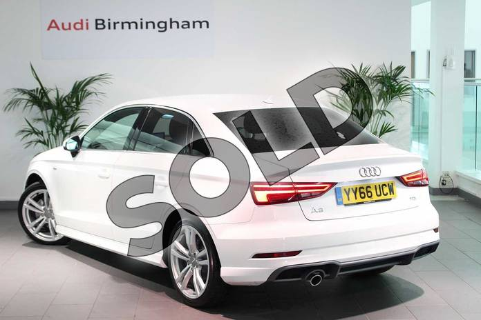 Image three of this 2016 Audi A3 Diesel Saloon 1.6 TDI S Line 4dr in Ibis White at Birmingham Audi