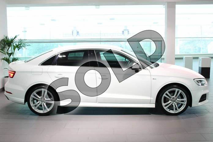 Image four of this 2016 Audi A3 Diesel Saloon 1.6 TDI S Line 4dr in Ibis White at Birmingham Audi
