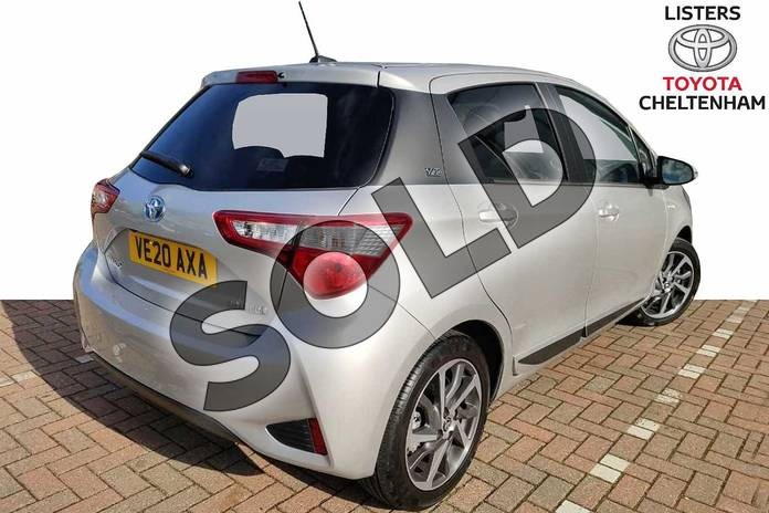 Image two of this 2020 Toyota Yaris Hatchback 1.5 Hybrid Y20 5dr CVT (Bi-tone) in Silver at Listers Toyota Cheltenham
