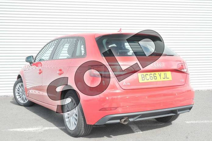 Image three of this 2017 Audi A3 Diesel Sportback 1.6 TDI SE Technik 5dr S Tronic in Tango Red Metallic at Coventry Audi