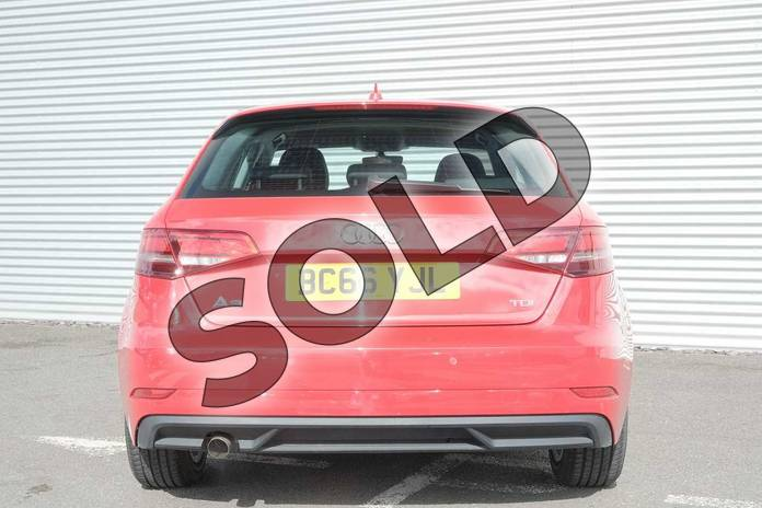Image eight of this 2017 Audi A3 Diesel Sportback 1.6 TDI SE Technik 5dr S Tronic in Tango Red Metallic at Coventry Audi