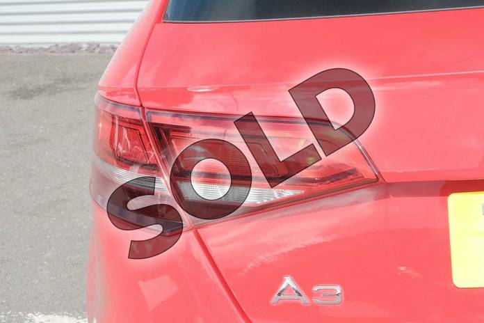 Image nine of this 2017 Audi A3 Diesel Sportback 1.6 TDI SE Technik 5dr S Tronic in Tango Red Metallic at Coventry Audi