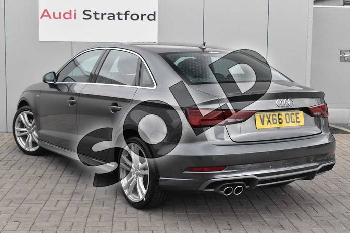 Image three of this 2016 Audi A3 Saloon 1.4 TFSI S Line 4dr in Daytona Grey Pearlescent at Stratford Audi