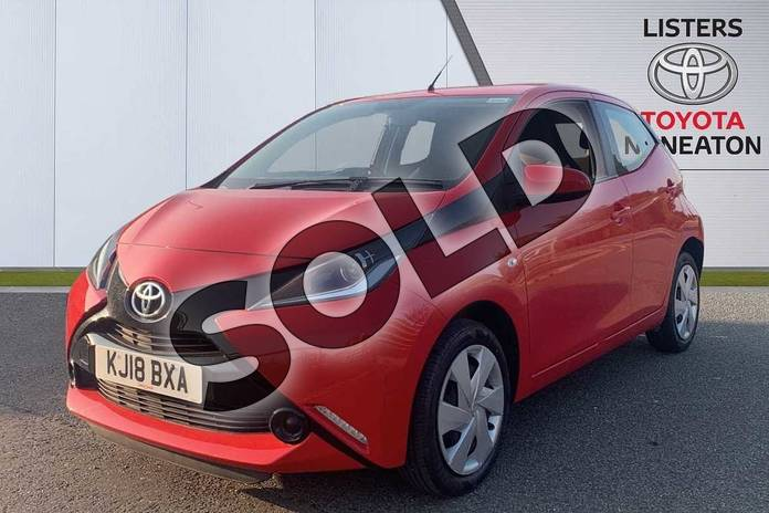 Image three of this 2018 Toyota AYGO Hatchback 1.0 VVT-i X-Play 5dr in Red at Listers Toyota Nuneaton