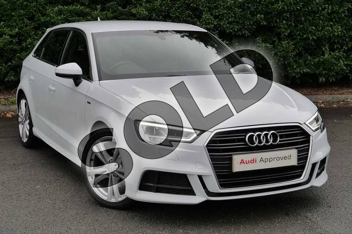 Picture of Audi A3 1.5 TFSI S Line 5dr S Tronic in Glacier White Metallic