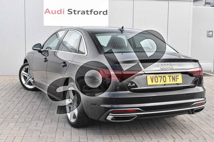 Image three of this 2020 Audi A4 Saloon 35 TFSI Sport 4dr S Tronic in Myth Black Metallic at Stratford Audi