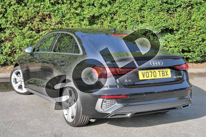 Image three of this 2020 Audi A3 Saloon 35 TFSI S line 4dr S Tronic in Myth Black Metallic at Worcester Audi