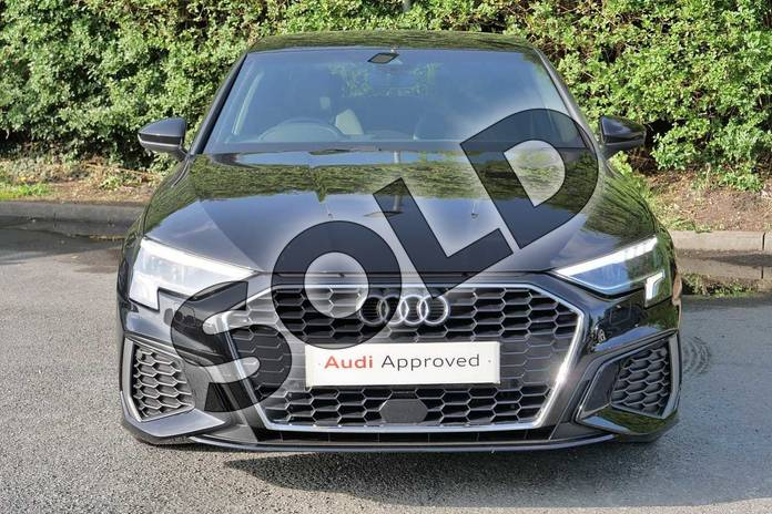 Image seven of this 2020 Audi A3 Saloon 35 TFSI S line 4dr S Tronic in Myth Black Metallic at Worcester Audi
