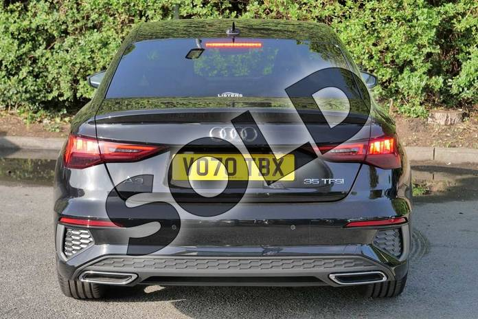 Image nine of this 2020 Audi A3 Saloon 35 TFSI S line 4dr S Tronic in Myth Black Metallic at Worcester Audi