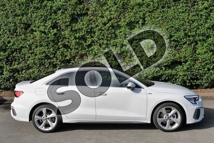 Image four of this 2020 Audi A3 Saloon 35 TFSI S line 4dr in Glacier White Metallic at Worcester Audi