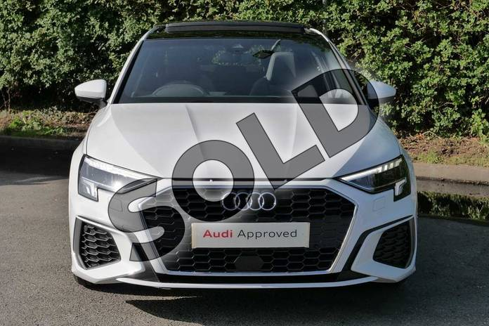 Image seven of this 2020 Audi A3 Saloon 35 TFSI S line 4dr in Glacier White Metallic at Worcester Audi