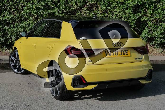 Image three of this 2020 Audi A1 Sportback Special Editions 35 TFSI S Line Style Edition 5dr S Tronic in Python Yellow Metallic at Worcester Audi