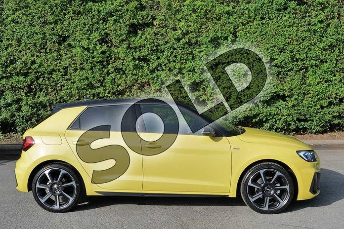 Image four of this 2020 Audi A1 Sportback Special Editions 35 TFSI S Line Style Edition 5dr S Tronic in Python Yellow Metallic at Worcester Audi
