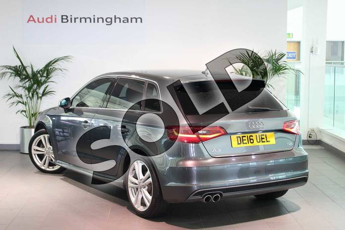 Image three of this 2016 Audi A3 Diesel Sportback 2.0 TDI S Line 5dr S Tronic (Nav) in Daytona Grey Pearlescent at Birmingham Audi