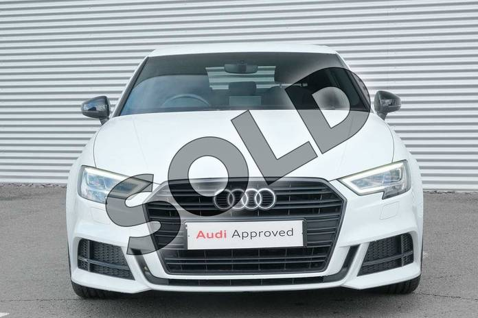 Image seven of this 2018 Audi A3 Saloon Special Editions 1.5 TFSI Black Edition 4dr in Glacier White Metallic at Coventry Audi